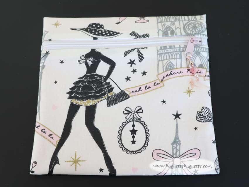 Tuto : La Trousse «Paris»: Trousse Plate Avec Un Zip Devant